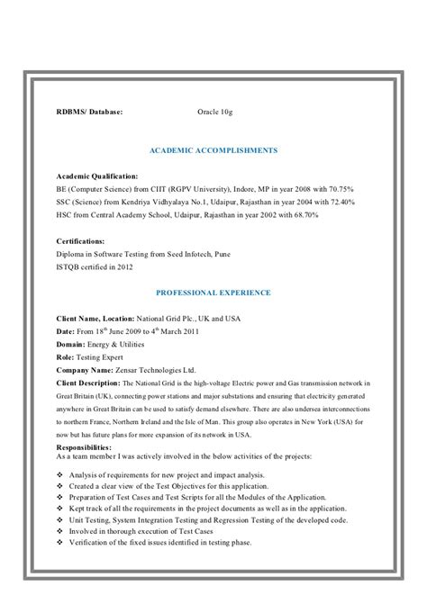 automation testing resumes for experience cv and resume services tefl cv template marketing