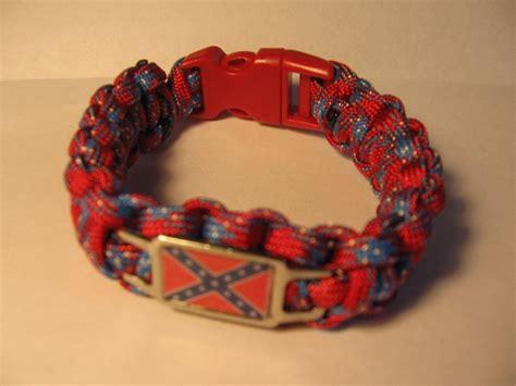 rebel flag paracord bracelet survival 11 95