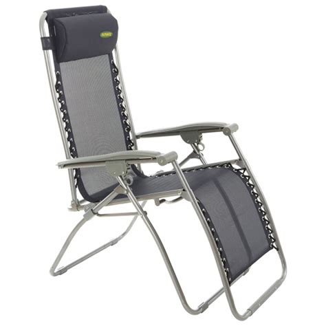 caravan recliner chairs outback blue textilene recliner folding gravity chair