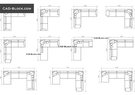 divani cad sofas in plan with dimensions cad blocks free