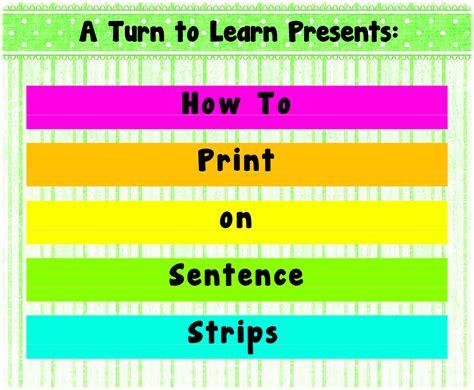 classroom freebies too print on sentence strips