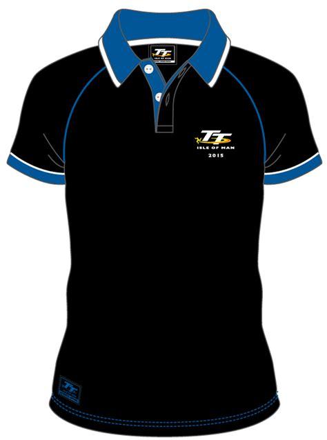 tt ladies polo black isle of man tt official shop tt 2015 polo shirt black blue collar white trim isle of