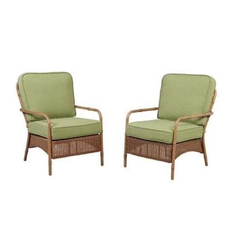 Patio Lounge Chairs Home Depot Hton Bay Clairborne Patio Lounge Chair With Moss