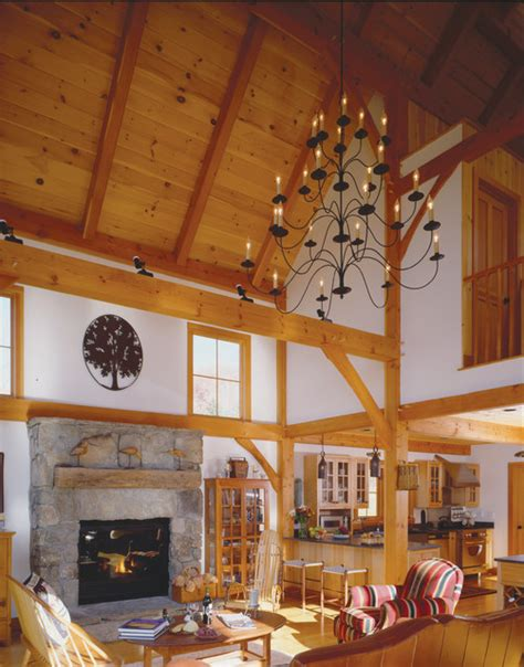 timber frame great room timber frame barn home great room farmhouse living