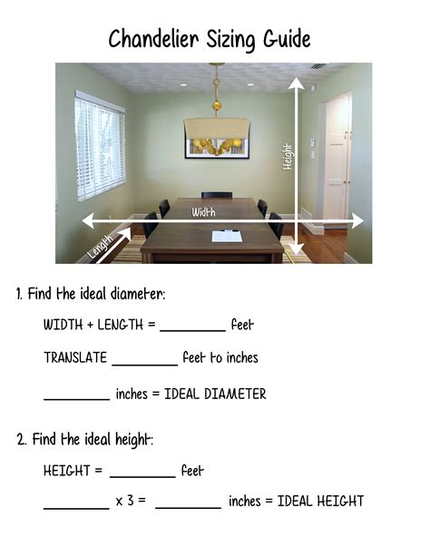 Chandelier Sizing How To Size A Chandelier