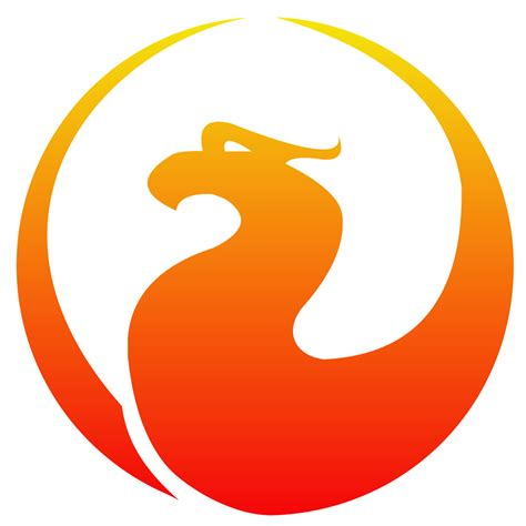 a logo with a firebird logos