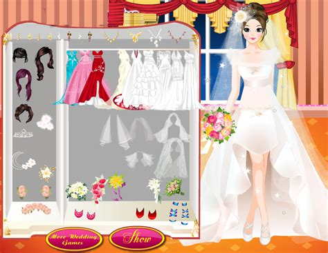 bride style wedding dress up games by