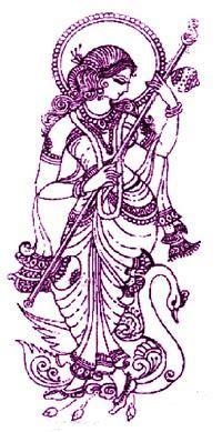 saraswati tattoo designs sarasvati shakti benzaiten image origin unknown