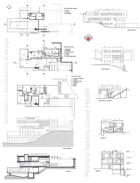 house health plan lovell health house dwg drawings