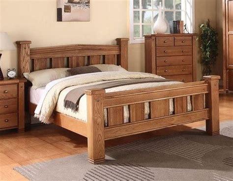 super king size solid natural oak bed frame michidean