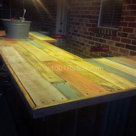 wood bar top ideas bar tops pallet bar and pallets on pinterest
