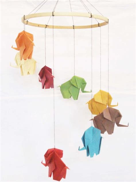Origami Baby Mobile - origami elephant mobile elephant mobile baby mobile