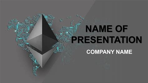 Ethereum Cryptocurrency Powerpoint Template Background Cryptocurrency Powerpoint Template