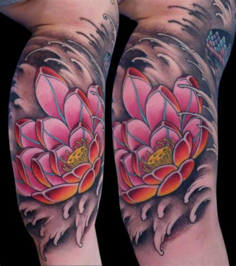 arm flower japanese tattoo by nicklas westin