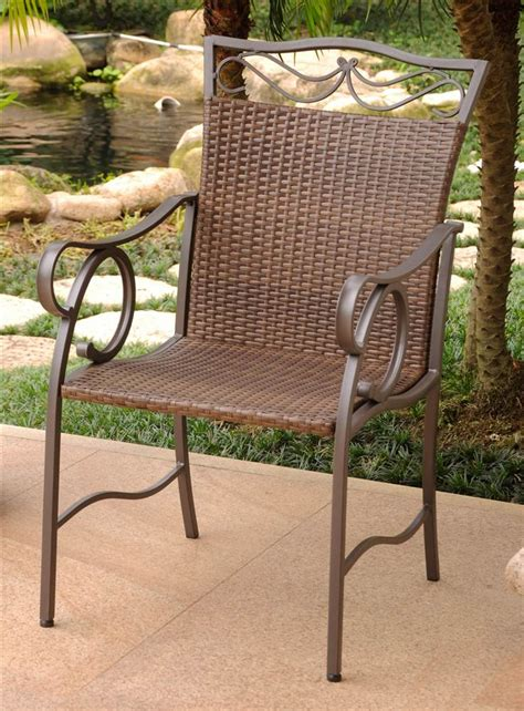 vintage brown patio furniture patio arm chair in antique brown finish set of 2
