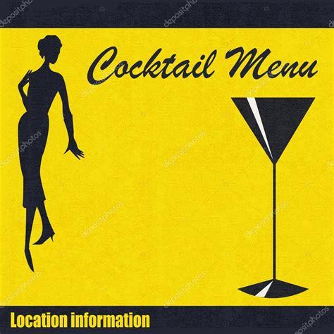 Word Vorlage Cocktailkarte Cocktailkarte Vorlage Stockvektor 169 Petrafler 9835395