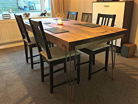 diy dining table legs diy tutorial rustic dining table with hairpin legs tea on the tyne vegan and cruelty free