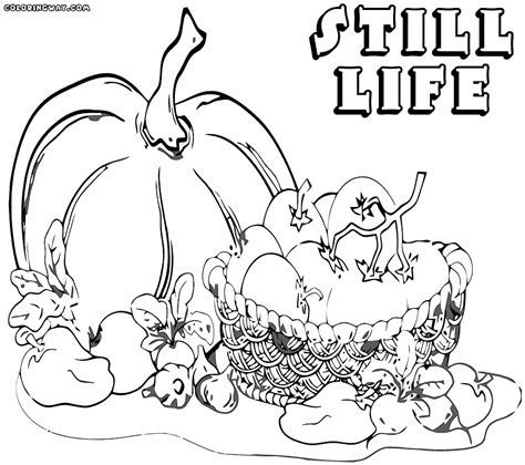 Still Life Coloring Pages Coloring Pages To Download And Still Coloring Pages