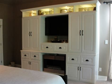 built in armoire master suite make over