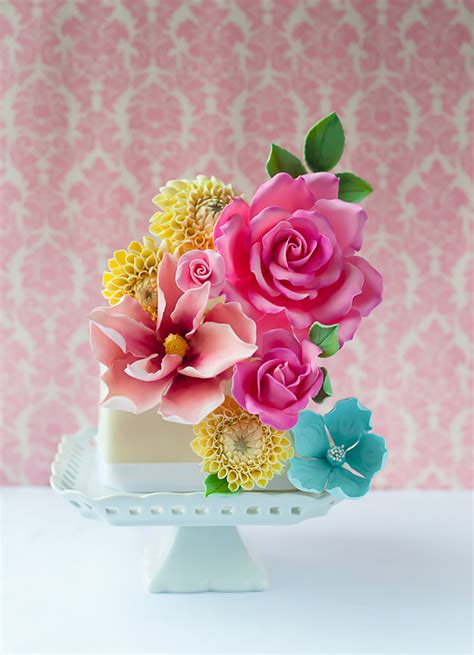 bright wedding cakes wedding ideas  colour chwv