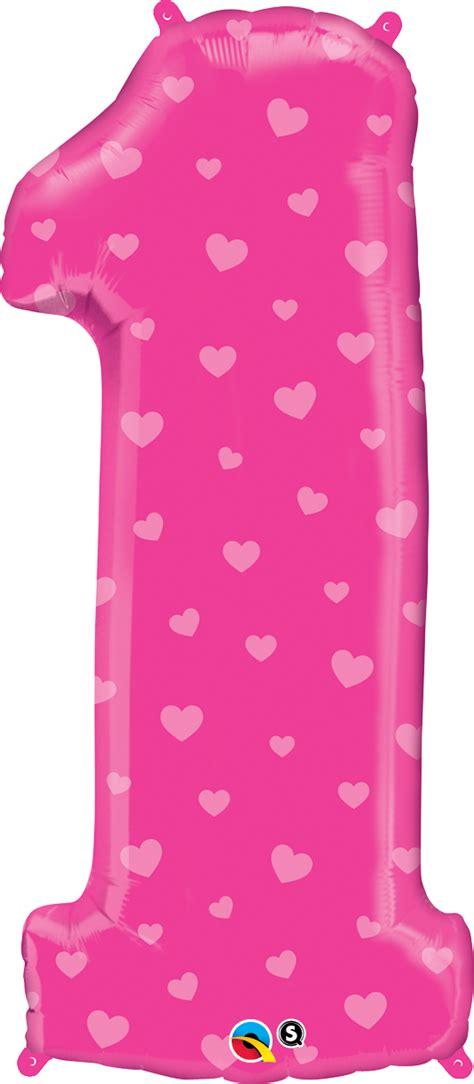 centrar imagenes en latex globo n 250 mero 1 rosa con corazones 38 96cm 1ct cod 16480
