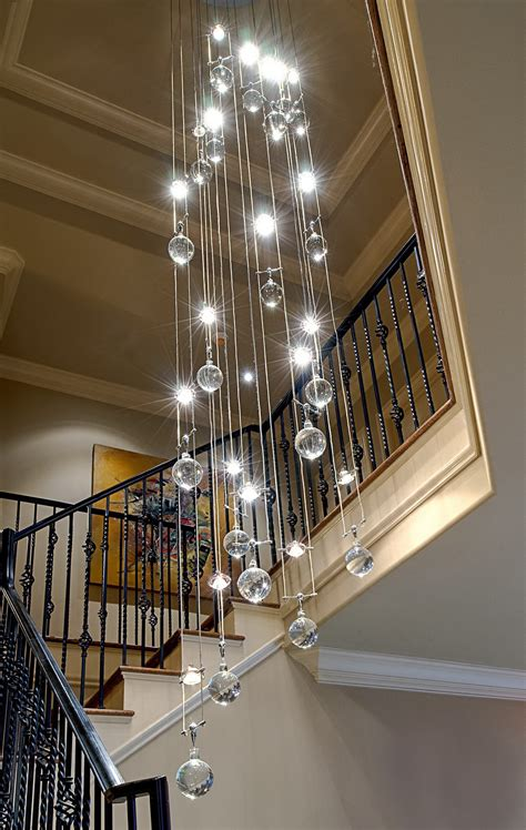 Stair Lighting Fixtures Chandelier Ideas Decosee
