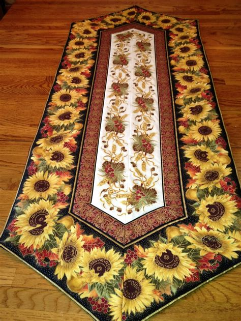 Thanksgiving Table Runners by Thanksgiving Table Runner Sunflowers