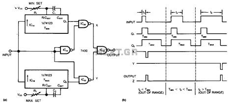 pulse detector circuit diagram gt sens detectors gt various circuits gt out of bounds pulse