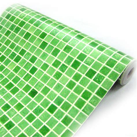 green peel and stick wallpaper green tile contact paper peel and stick wallpaper