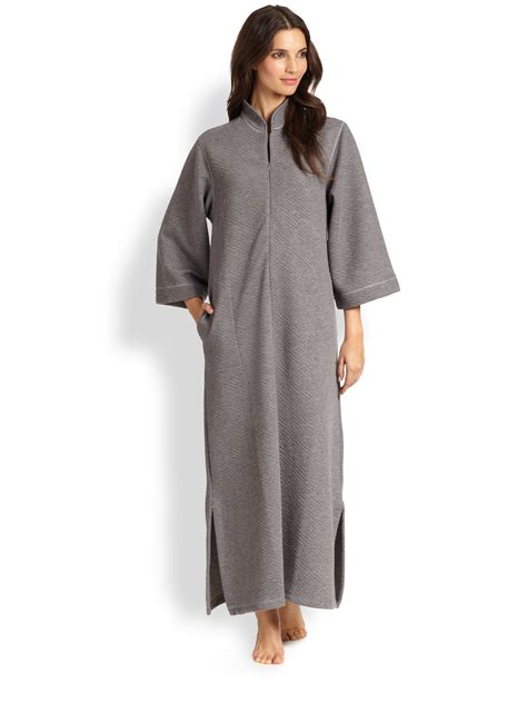 Natori Beijing Quilted Caftan style Robe in Gray   Lyst