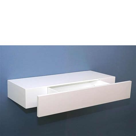 floating shelf with drawer floating shelf with drawer white 600x250x100mm mastershelf