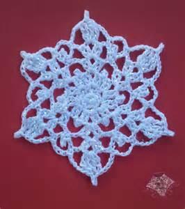 crochet snowflake the purple poncho