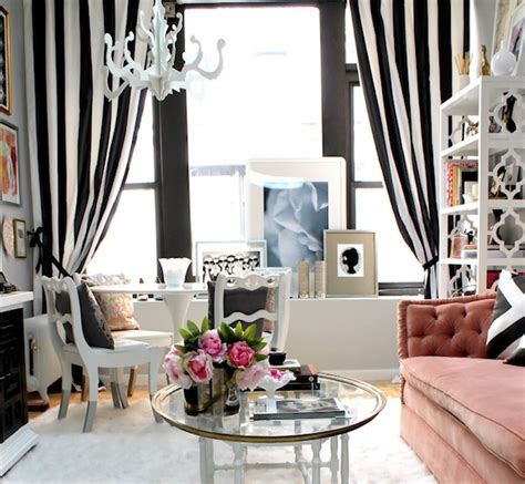 Black And White Curtains For Living Room | creative black and white patterned curtain ideas