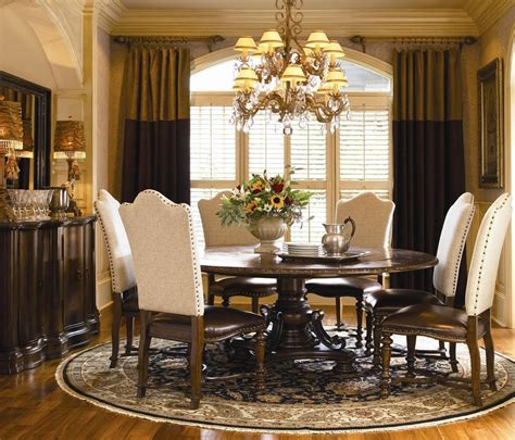 round dining room table buy bolero round table dining room set by universal from