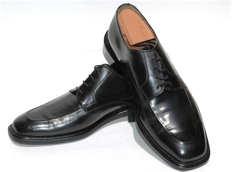 black shoes vintage square toe black shoes johnston murphy cellini