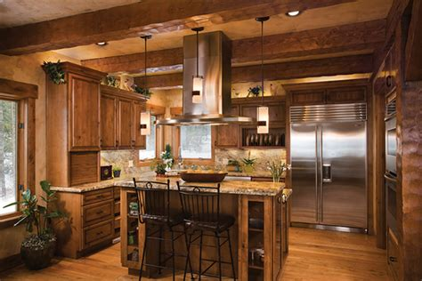Log Home Living Log Home Kitchen Design
