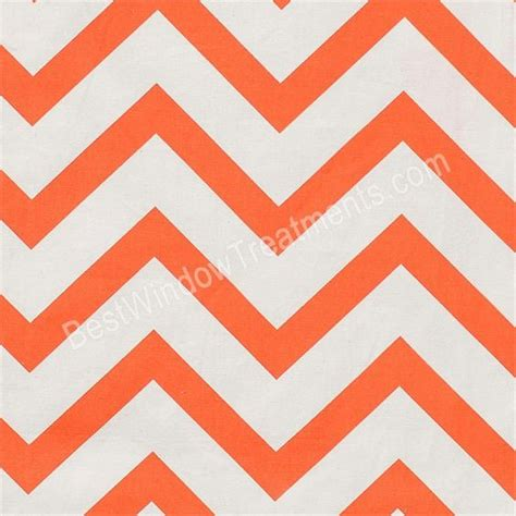 orange and white chevron curtains zen chevron curtains in tangerine orange and white color