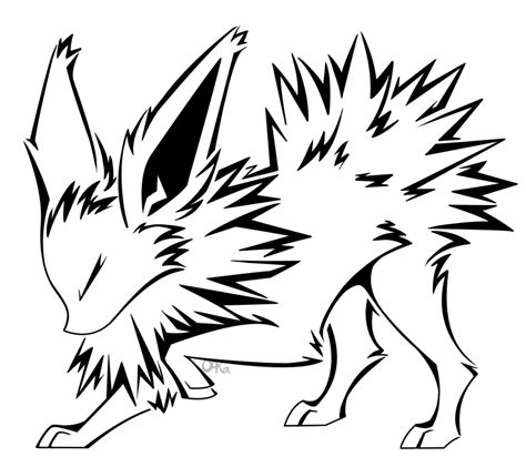 jolteon tattoo by with jolteon coloring pages