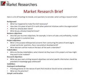 Marketing Research Exles Papers by Exle Market Research Brief Top Tips For Writing A Brief