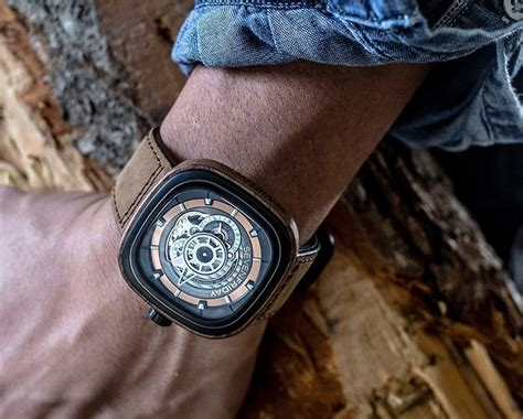 Seven Friday M2 2 Limited Edition Brown Leather Set Clone Ori the stylish sevenfriday p2b 03 w woody limited edition