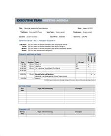 Team Meeting Agenda Template by 10 Team Meeting Agenda Templates Free Sle Exle