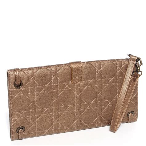 Vinyl Cannage D Clutch by Christian Leather Cannage Quilted Clutch Wristlet