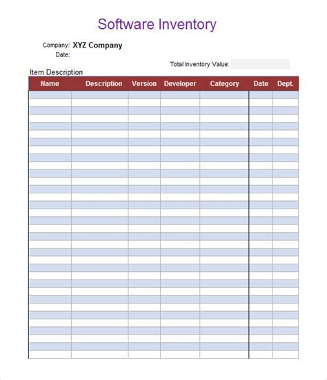 software inventory template excel customizable business inventory list template sles