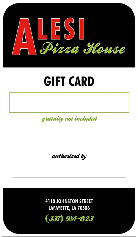 printable pizza gift cards alesi pizza house gift card back our print design