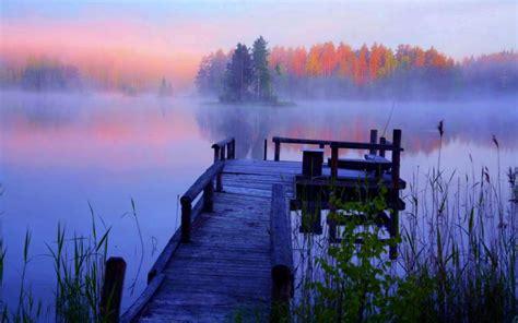 hd beautiful foggy lake wallpaper