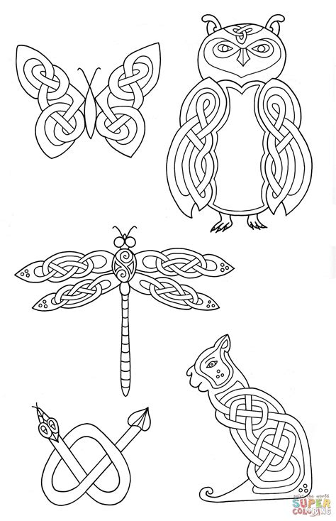 celtic animal tattoos designs celtic animals designs 2 coloring page free printable