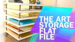 Ikea File Cabinet Tips Amp Tricks 1 Diy Art Storage Flat File With Ikea