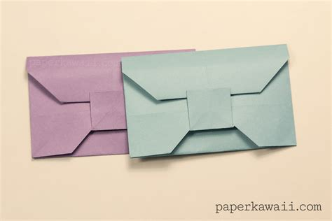 Folded Paper Envelope - traditional origami envelope tutorial paper kawaii