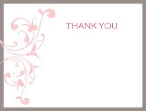 pink wedding thank you card