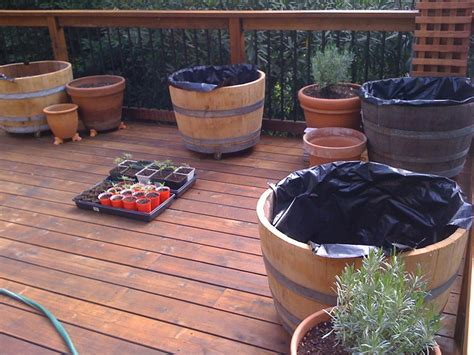 How To Make A Wine Barrel Planter by 8 Wine Barrel Planter How Tos Guide Patterns